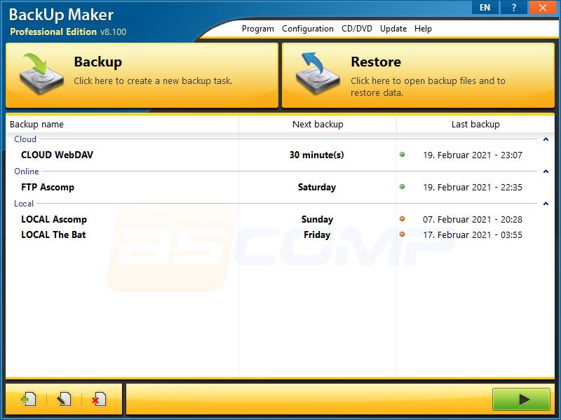 Resultado de imagen de BackUp Maker Professional Edition